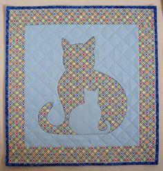 (7) Name: 'Quilting : SIDEKICK Cat Applique Quilt, 5 sizes
