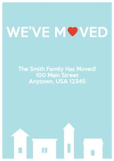 Moving Announcement Houses (Blue) Vintage by NestedExpressions on Etsy, $20
