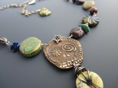 SALE Day of the Dead Bronze and Gemstone ARtisan by stacilouise,