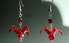Ręcznie wykonane piękne kolczyki z żurawiami na szczęście #handmade