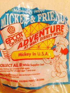 1994 McDonalds - Mickey and Friends Epcot Adventure MICKEY IN USA #Disney