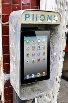 Die Telefonzelle von heute.. :)