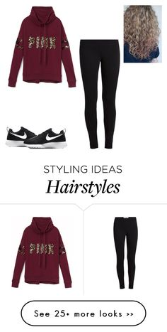 """Untitled #267"" by kristian321 on Polyvore featuring Victoria's Secret PINK and NIKE"