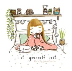 If you get tired learn to rest not quit. For see more of fitness life images visit us on our website ! Cute Quotes, Words Quotes, Sayings, Yoga Quotes, Frases Yoga, Buddha Doodle, Duvet Day, Illustrators On Instagram, Illustrations