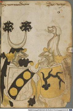 Ortenburger Wappenbuch Bayern, 1466 - 1473 Cod.icon. 308 u  Folio 52r
