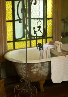vintage clawfoot tub...will always prefer this setting to a shower