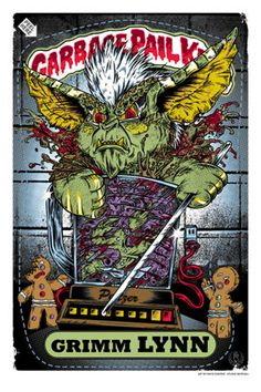 "Rhys Cooper. From ""1988 X GPK""  Garbage Pail Kids group show  September 2 - October 1, 2011."