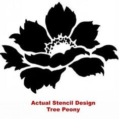 crafting stencils | Flower Stencil Tree Peony size Med - Reusable stencils for DIY decor