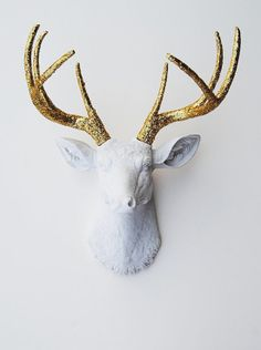 gold antlers! #gold #antlers #christmas