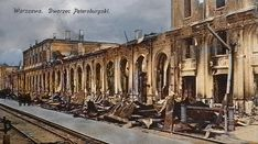 1915 Dw Petersburski po spaleniu.. Germany Poland, City Buildings, Warsaw, Wwii, Lost, France, Prague, World War Ii