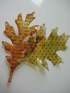 Stamped leaves tutorial