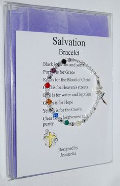 Hottest Totally Free Items similar to Swarovski Crystal Salvation Bracelet Artist Inspired in Gift Box on Etsy Thoughts The more colorless a stone is, the more useful it is. The colorless Stone is known as'white '. Vbs Crafts, Church Crafts, Bead Crafts, Jewelry Crafts, Beaded Jewelry, Jewelry Bracelets, Handmade Jewelry, Resin Jewellery, Pearl Necklaces