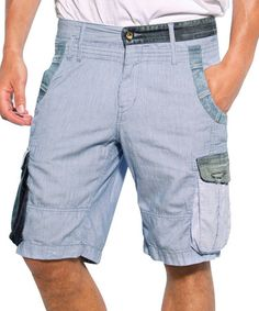 239b9c3c2d0 Light Blue Delft Cargo Shorts - Men  zulilyfinds