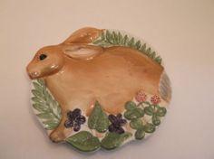 Mesa International Handpainted Rabbit Tidbit Tray   eBay