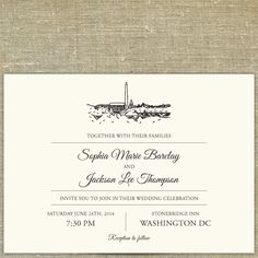 Washington Dc Skyline Destination Wedding By Pixiechicago On Etsy 8 00