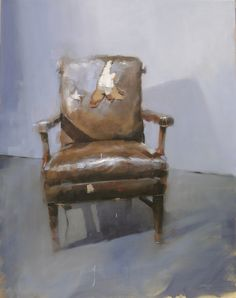 """Studio chair revisited"" Oil on linen 38""x30"" 2012"