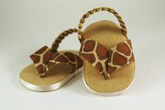Tan Giraffe baby girl flip flop by PrettySimpleBaby on Etsy, $10.99