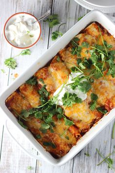Classic Chicken Enchiladas - Totally from scratch and so easy!