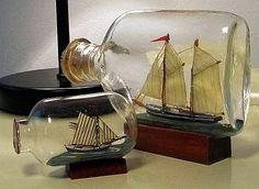 Vintage Ships in a Bottle.