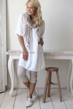 MIAMI Linen tunic, WHITE