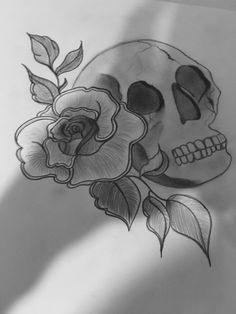 Skull and Rose design