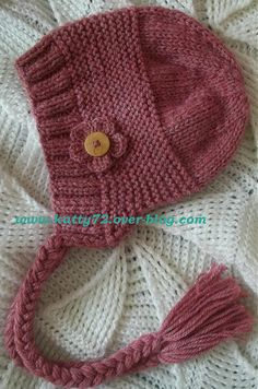 Knitted Hats Kids, Baby Hats Knitting, Knitted Baby Cardigan, Knit Beanie Hat, Loom Hats, Baby Bonnets, Knitting Accessories, Girl With Hat, Crochet Yarn