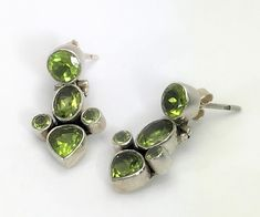 Beautiful Sterling Silver & Peridot Hinged Drop Earrings by LoubooluJewellery on Etsy Etsy Earrings, Drop Earrings, Gift Wrapping Services, Beautiful Earrings, Peridot, Cufflinks, Pouch, Etsy Shop, Sterling Silver