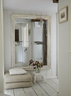 Could reuse an old bathroom mirror....