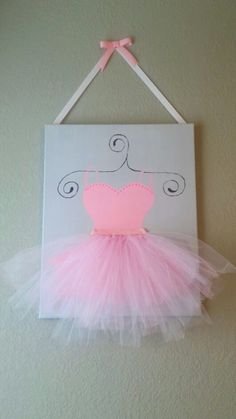 Tutu canvas painting - ballet bedroom decor