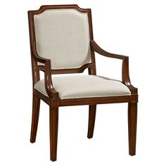 Bring timeless elegance to your dining room table or den seating group with this lovely arm chair, showcasing classic upholstery and a rich truffle finish.500+