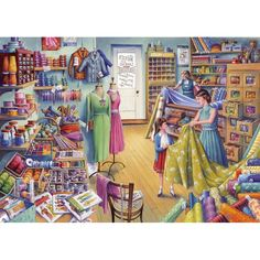 Gibsons Beads & Buttons by Tony Ryan 1000 piece nostalgic jigsaw puzzle