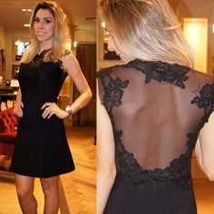 Backless Prom Dress,Lace Prom Dress,Black Prom Dress,Fashion Homecoming
