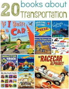 Our Favorite Transportation Books for Preschoolers - Kids Audio Books - ideas of Kids Audio Books - Fans of cars and trucks will love these books about transportation! Preschool Books, Preschool Curriculum, Preschool Themes, Homeschooling, Kindergarten, Audio Books For Kids, Childrens Books, Books About Cars, Transportation Theme Preschool