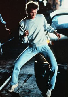 """Kevin Bacon in """"Footloose""""...kick off your Sunday shoes! The best. it should not have been remade. It's an eighties classic!"""