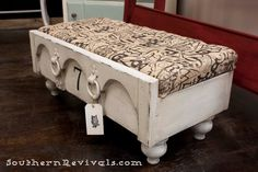 From a Chest of Drawers to a Drawer Ottoman A Drawer Revival - Southern Revivals