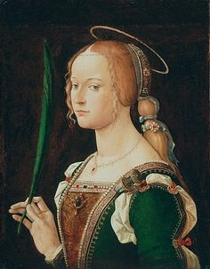 Medieval Imago & Dies Vitae Idade Media e Cotidiano  Saint Justina of Padua Bartolomeo Montagna (Bartolomeo Cincani) 1490s.