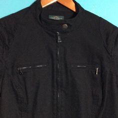 LAUREN JEANS Black Denim Jacket RALPH LAUREN. LAUREN JEANS CO. Black Denim Jacket. Moto style. Four front zipper pockets. Silver hardware. Lauren Jeans Co Jackets & Coats Jean Jackets