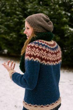 IJslandse trui, gratis Afmaeli patroon in mooie kleurcombi