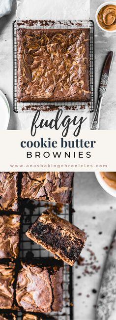 These Cookie Butter Swirl Brownies are one of the best things I've ever made. With a biscoff cookie crust on the bottom, luscious fudgy brownie in the middle and biscoff cookie butter swirl on top How To Make Brownies, Best Brownies, Fudgy Brownies, Chocolate Brownies, Brownies Recipe No Butter, Best Brownie Recipe, Brownie Recipes, Decadent Chocolate Cake, Chocolate Desserts