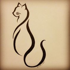 Cattoo This is the finalized cat tattoo design for my friend Lindsay K. She deci.Cattoo This is the finalized cat tattoo design for my friend Lindsay K. She decided that she wanted more of an abstract line art style, and this is the end result