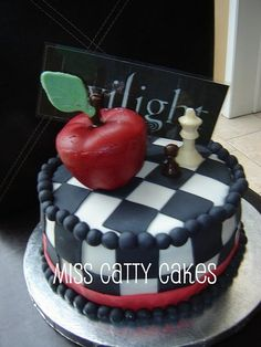Twilight Birthday Cake. When I first saw this, I thought it was a teacher's cake. With a little alteration, it could be.