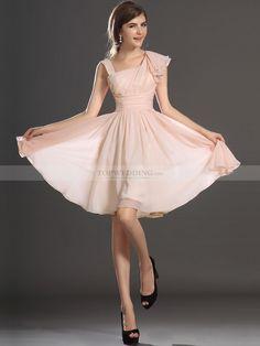 Asymmetric Neckline Chiffon A Line Homecoming Dress