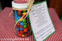 Mommy's Kitchen: You're My M&M Goodie Jar + More Teacher Appreciation Gift Ideas