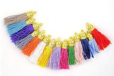 Tassels - Small Tassels - Tassel Charms - Packs of 10 Assorted Colors - Colorful Tassels For Jewelry - Tassel Earrings - Decorative Tassels #tasselsforcrafts #tassels #decorativetassels