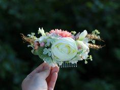 Brautschmuck grau f/ür Hochzeit Ansteckblume f/ür Abschlussball und Handgelenk
