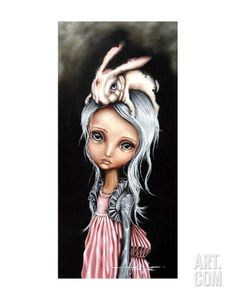 """""""Bunny Couture"""" Angelina Wrona I have loved her art for years. One day I shall own this, it is my favourite because of the bunny. No Ordinary Girl, Galerie D'art, Wow Art, Lewis Carroll, John Singer Sargent, Canadian Artists, Dark Art, William Turner, Rembrandt"""