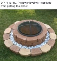 Lower level keeps kiddos a safe distance from fire!
