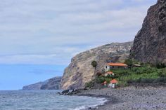 Madeira Island - small village over the cliff ((Fajã dos Padres) and it's lava beach #Portugal