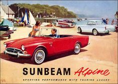Sunbeam Alpine facelift. 1965 onwards. Gone are the sharp fins. Single bar grille and 1725cc