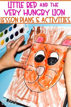 Reading lesson plans for Kindergarten, 1st, and 2nd grade! Little Red and the Very Hungry Lion is a fairy tale with a fun twist! Have fun with these engaging lesson plans and activities.